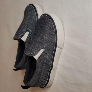 3/$30 BABY GAP Slipon sneakers faux denim canvas